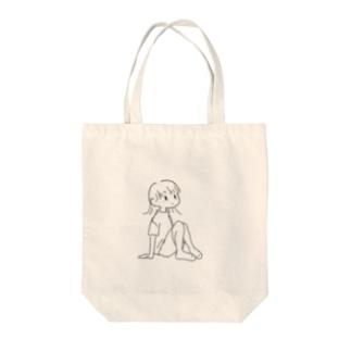 まちぼうけ(女の子) Tote bags