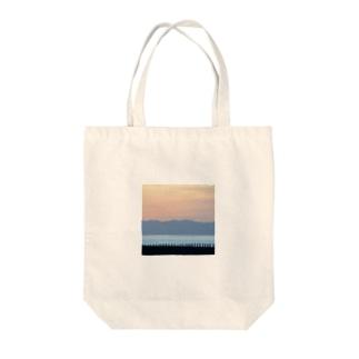 夕焼けレイヤード Tote bags