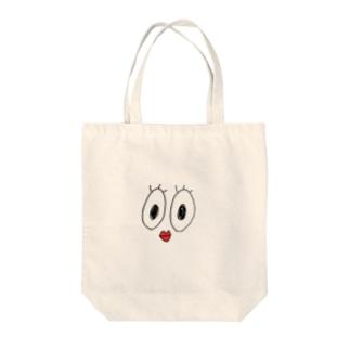 おばちゃんのかお Tote bags