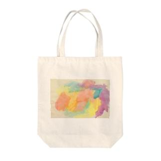 satonoe colorful Tote bags