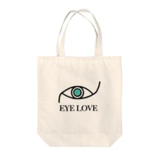 EYE LOVE Tote bags