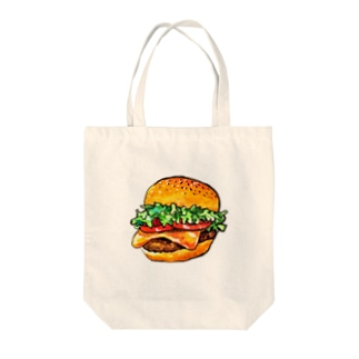 水彩イラストグッズのテイクアウトしたくなるハンバーガー Tote bags