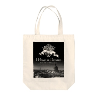 Mr.Rightの人気のモノトーンファッション 「I Have a Dream」 Tote bags