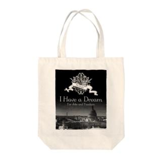 人気のモノトーンファッション 「I Have a Dream」 Tote bags