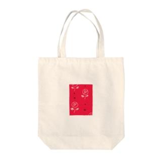昭和レトロなバラと黒リボンたち Tote bags