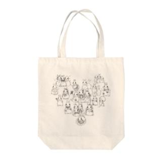 うさぎデッサンイラストシリーズ Tote bags