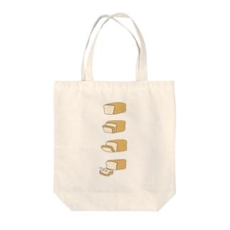 おにぎりわんこのパンいぬ食パンスライストートバッグ Tote bags