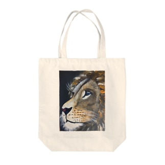ライオンのまっちん Tote bags