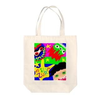 もんすたぁーふぁみりー Tote bags
