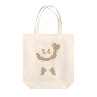 ハッピーぱんだ(ナチュラルカラー) Tote bags
