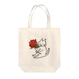 ウチのニャンコ ばら Tote bags