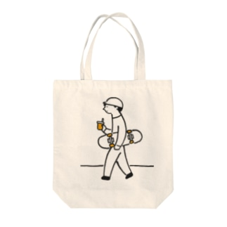 スケボーくんのトートバッグ Tote bags