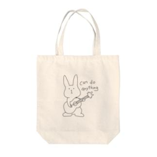ウサギター Tote bags