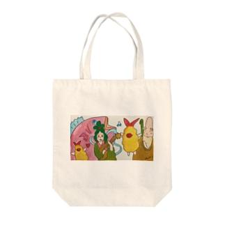 エビフライのフラちゃん 夢の共演 Tote bags