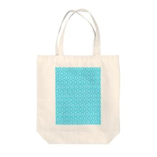 sasiko-亀甲花刺し(水色)- Tote bags
