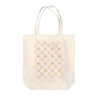 sasiko-変わり七宝(花)- Tote bags
