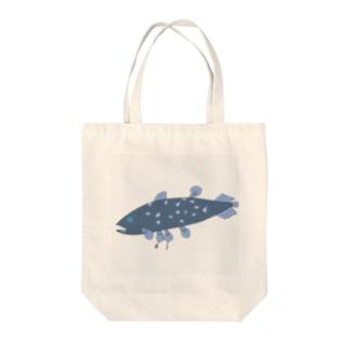 ぺんちゃんの魚市場のはらぺこシーラカンス  Tote bags