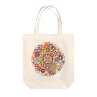 SAIHATE MANDALA Tote bags