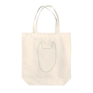 ぐりーんいぬ。 Tote bags