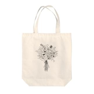 アネモネとユーカリのブーケ  Tote bags