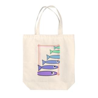 手描きのエトセトラの魚たち Tote bags