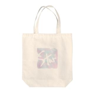 umaspiのSTARロゴ宇宙デザイン Tote bags