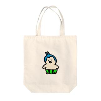 しゅらぼんのお絵描き。のスイカパンツのペンギンくん Tote bags