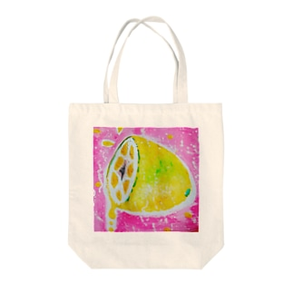 sio100の炭酸INレモン。。 Tote bags