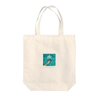 damsel water Tote bags