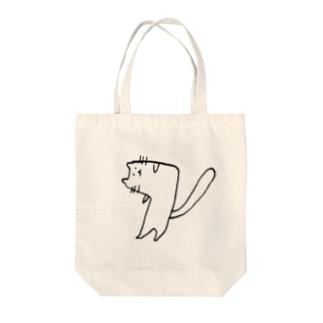 へんなネコ Tote bags