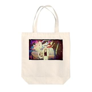 日本画しりぃず Tote bags