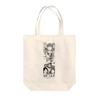 流れ音楽解散 Tote bags