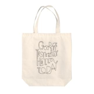 Panic JunkieのGoodbye yesterday, hello today Tote bags