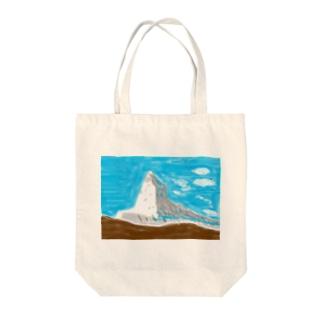 白井 快士の山 Tote bags