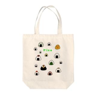 カラフルおにぎり Tote bags