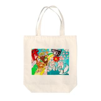 *KaO*イロトリドリのbanbi Tote bags