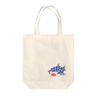 ゆるいジンベエさん Tote bags