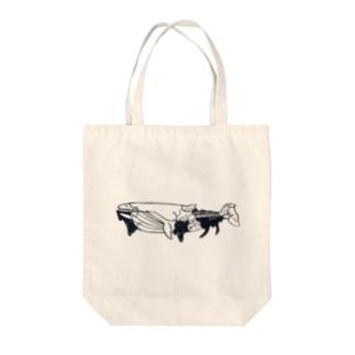 鯨の海 Tote bags