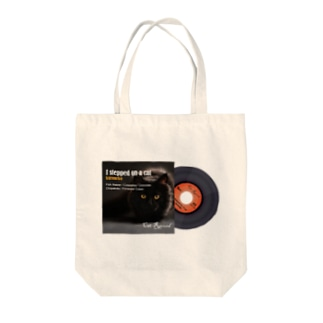cat record Tote bags