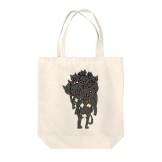 貝殻ビキニの猫(たくさん) Tote bags
