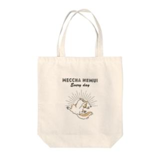MECCHA NEMUI いぬ Tote bags