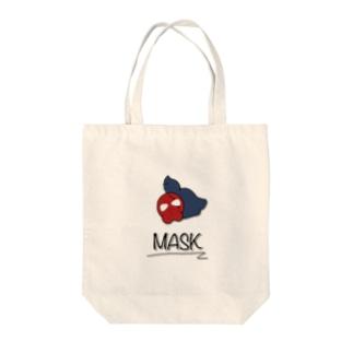マスク(赤)とネズミ〜MASK〜 Tote bags