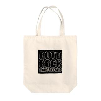 オートロックロゴ Tote bags