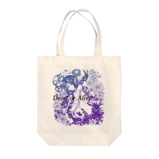 Dead or Alive Tote bags