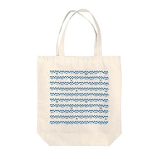 ねこボーダー Tote bags