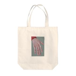 手の甲 Tote bags