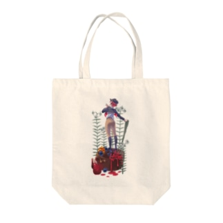 dim_shopのチョコケーキガール Tote bags