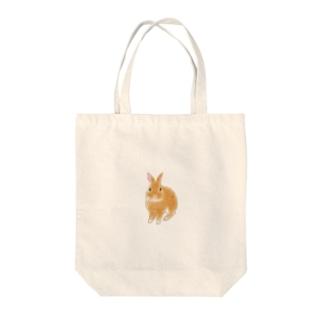 松子のシンプルなうさぎさん Tote bags