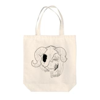 人外ーモノクロー Tote bags