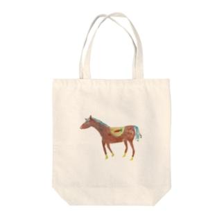 馬、走る! Tote bags